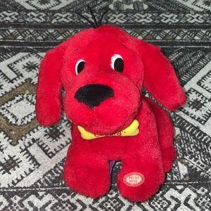 Vintage Clifford the big red dog moving barking plush animal
